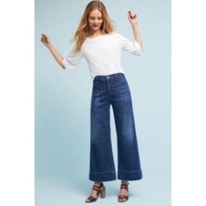 Citizens of Humanity H-Rise Wide-Leg Cropped Jeans